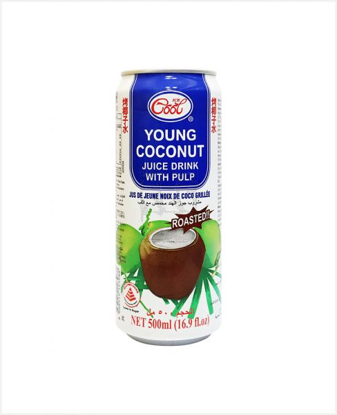 ICE COOL ROASTED YOUNG COCONUT JUICE W/ PULP 500ML