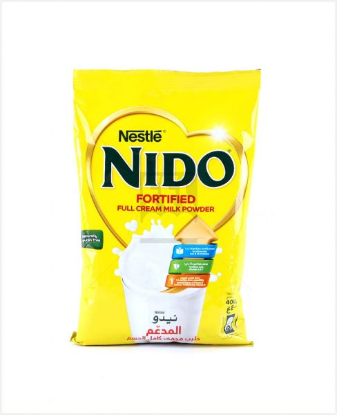 NESTLE NIDOMILK POWDER FULL CREAM POUCH 400GM