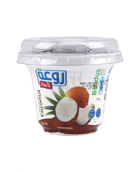 RAWA FLAVORED YOGHURT COCONUT 170GM