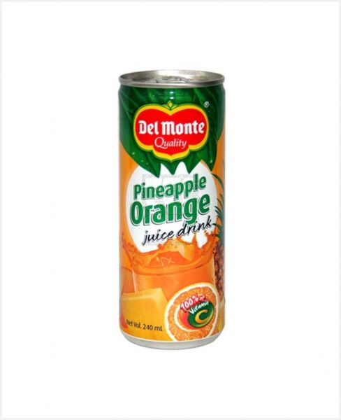 DEL MONTE PINEAPPLE ORANGE JUICE 202 DRINK 240ML