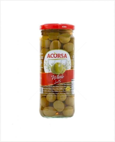 ACORSA GREEN OLIVES PLAIN SPAIN 575GM (NW950GM)