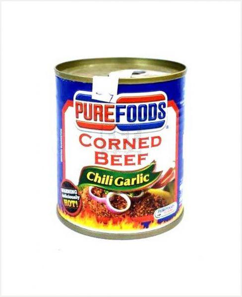 Pure Foods Corned Beef Chili Garlic 210gm