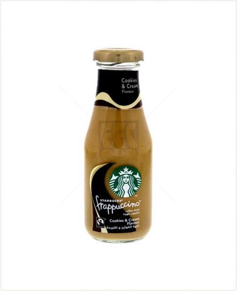 STARBUCKS FRAPPUCCINO COOKIES AND CREAM FLAVOUR DRINK 250ML