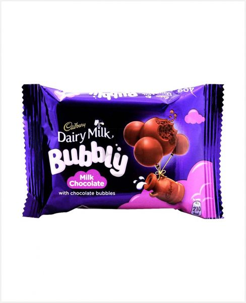 CADBURY DAIRY MILK BUBBLY MILK CHOCOLATE 40GM NEW