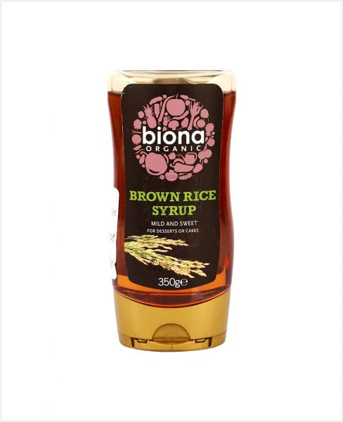 BIONA ORGANIC BROWN RICE SYRUP 350GM