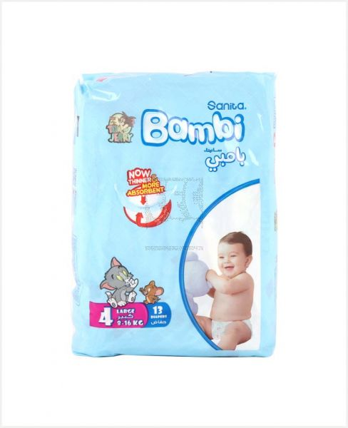 Bambi Baby Diapers Large 13'S