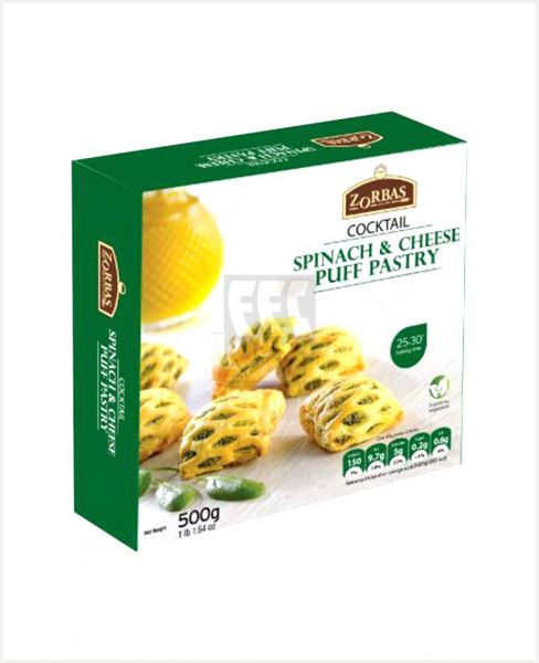 ZORBAS SPINACH & CHEESE PUFF PASTRY 500GM