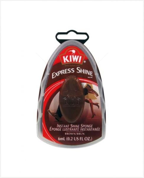 Kiwi Express Instant Shine Sponge Brown 6ml
