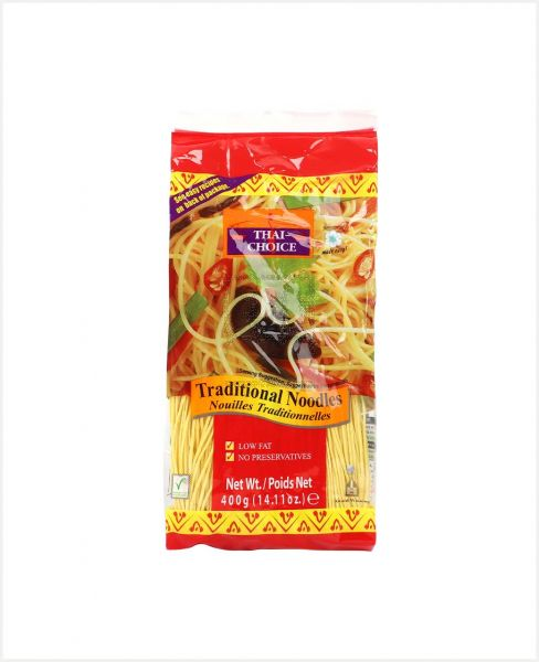 Thai Choice Traditional (Yellow) Noodles 400gm