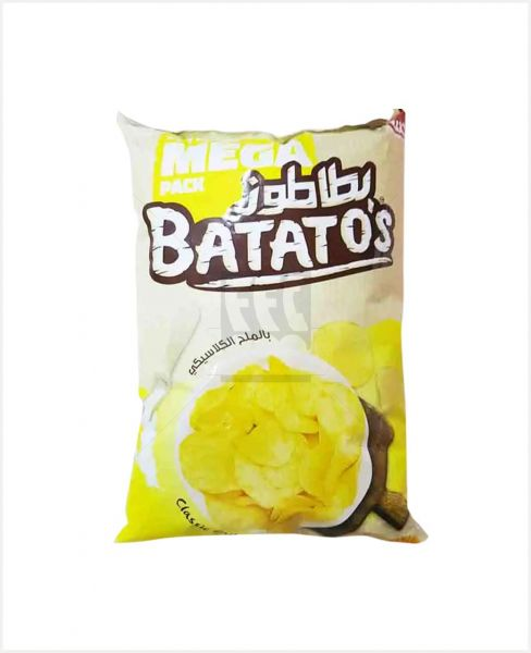BATATO'S NATURAL POTATO CHIPS CLASSIC SALTED 167GM