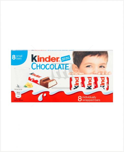 KINDER MILK COCO CHOCOLATE 8BARS 100GM