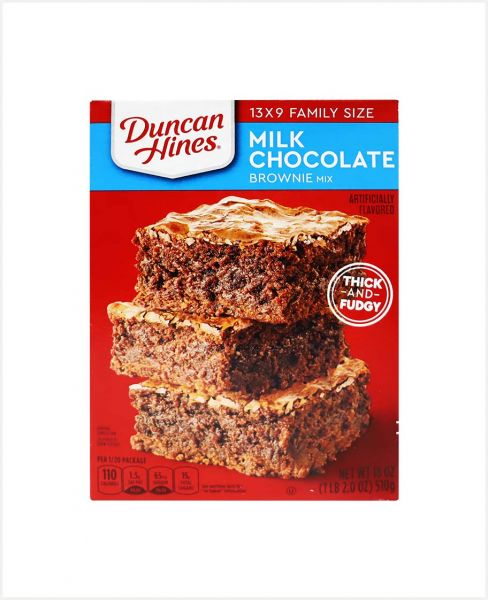 DUNCAN HINES MILK CHOCOLATE BROWNIES MIX 18OZ (510GM)
