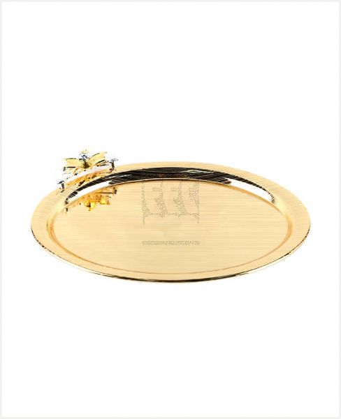 HI LUXE SERVING TRAY- SILVER /GOLD #HW01516