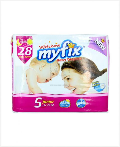 Myfix Baby Diapers Junior 5 (12-25kg) 28pcs #609